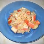 Spaghete (fusilli) de orez cu surimi
