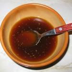 Sos de soia, miere, ghimbir