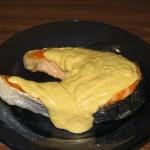 File de somon cu sos de mustar