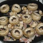 Ciuperci champignon cu bacon