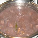Limba aromata cu sos de vin rosu dulce