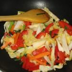 Ardei gras, ceapa verde, usturoi verde, varza chinezeasca