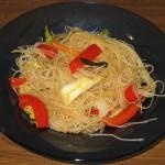 Fidea de fasole verde cu legume