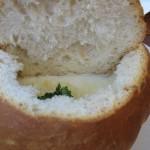 Supa crema de usturoi in chifla