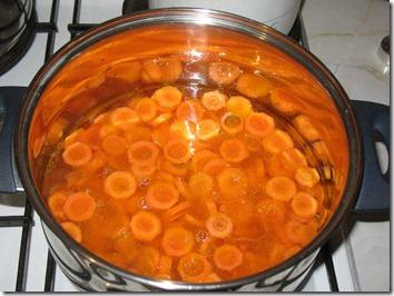 Rondelele de morcovi la fiert