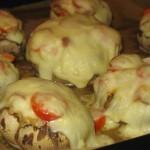 Ciuperci umplute la cuptor (varianta 2)
