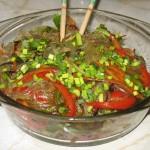 Japchae - Taitei sticlosi cu legume si carne Stir-fry