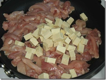 Pulpitele de pui si tofu