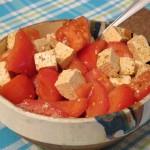 Salata de rosii cu branza tofu