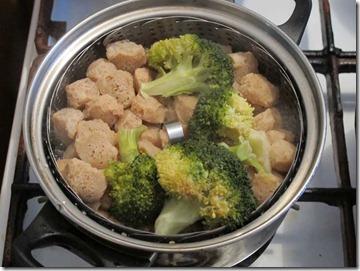 Cuburile de soia si buchetelele de broccoli