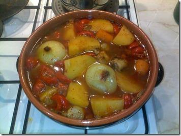 Dakdoritang - Tocanita picanta de pui cu legume